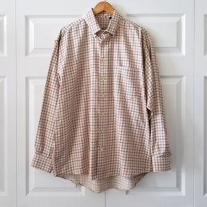 Burberry London Classic Plaid Button Up Shirt | L